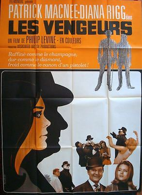 AVENGERS French Grande movie poster A 47x63 PATRICK MACNEE DIANA RIGG NM