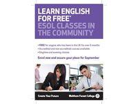 FREE ENGLISH CLASSES EVENINGS
