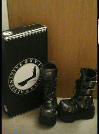 Gothic style platform boots
