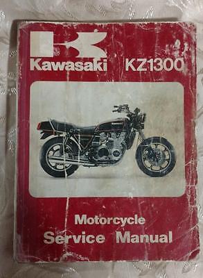 Kawasaki KZ 1300 Motorcycle Service Manual 1979 - 1981