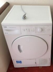 REDUCED White Beko DSC85W Condensing Dryer Great Condition