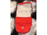 bugaboo red footmuff ,fleece lined ,