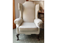 Vintage 3-piece suite with matching footstool