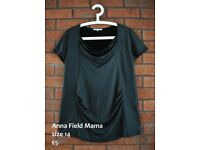 Maternity clothes bundle 12 14 / Anna Field Mama dark grey shimmering top size 14 like new