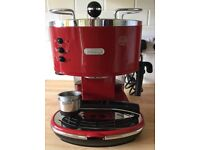 DeLonghi coffee maker red
