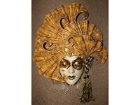 "Vintage ""The Muse"" Carnival / Masquerade Mask in excellent condition: To-Wear/Wall Hang Feature"