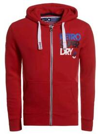 (New) Mens Superdry red Hoodie XL