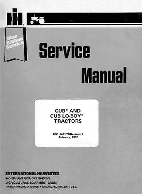 Farmall Cub Cub Lo-boy Loboy Service Manual Gss-1411 International Harvester