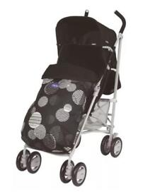 BNIB Chicco London Pushchair / Stroller - Black & White - Inc Footmuff & Raincover