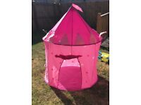 Pink play tent