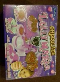 Childs chocolate lolly maker