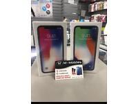 I phone X BRAND NEW boxes sealed UNLOCKED 256gb Apple warranty. Black