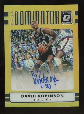 2017 Panini Donruss Optic Gold Hall Dominator David Robinson 7/10 Auto Autograph