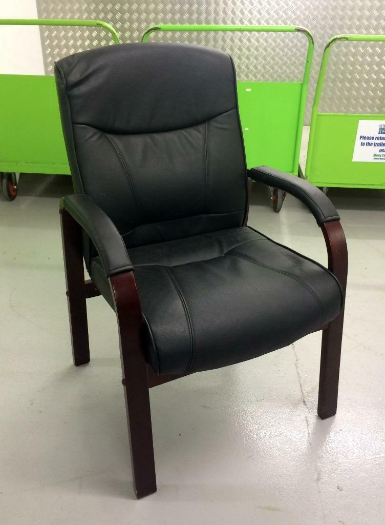 Wooden Legs and Arms & Black Leather | in Norwich, Norfolk | Gumtree