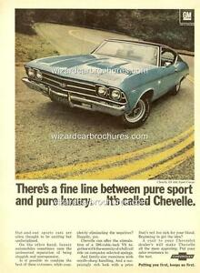 1969-CHEVROLET-CHEVELLE-SS-396-A3-POSTER-AD-SALES-BROCHURE-MINT