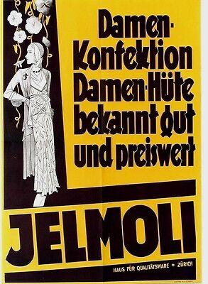 Original vintage poster JELMOLI SWISS FASHION STORE c.1935