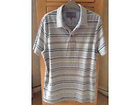 Men's Clothing Grey Stripe T-Shirt from Rocha J Rocha Size Medium NEW