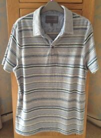 Men's Clothing Grey Stripe Short Sleeve T-Shirt by Rocha J Rocha Size Medium NEW