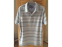 Men's Clothing Grey Stripe Short Sleeve T-Shirt by Rocha J Rocha Size Medium NEW