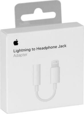 Original Apple Auriculares Aux Adaptador Audio Lightning Para IPHONE