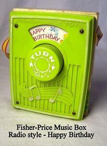 Vintage 1970, Fisher-Price, Music Box #768 –Happy Birthday