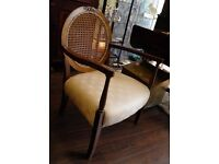 Lovely Antique Walnut Bergere Back Arm chair - WE CAN DELIVER ACROSS UK