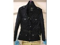 Black Barbour style jacket
