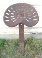 METAL TRACTOR OR IMPLEMENT SEAT - VINTAGE