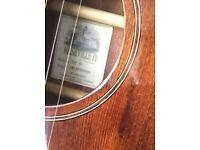 Tanglewood acoustic solid top sunburst, Nashville IV, with gigbag.