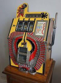 Antique Mills War Eagle machine. Fully restored. Complements a vintage jukebox