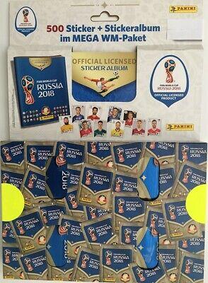 Fußball Album (Panini WM 2018 Russia World Cup Sticker Megapack 100 Tüten + Sammelalbum NEU!)
