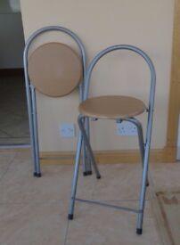 Pair of folding stools
