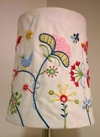 IKEA Alfhild Fagel Embroidered Folk Nordic Shade. Lamp or Celing