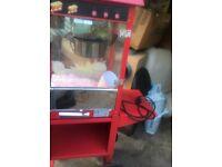 Popcorn machine & cart for sale