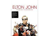 ELTON JOHN - ROCKET MAN: THE DEFINITIVE HITS DELUXE DVD+CD+ 42 PAGE BOOK LONG BOX COLLECTABLE VGC