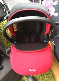 Silvercross simplicity car seat in chilli red