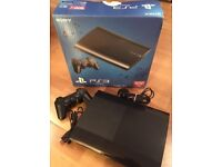Sony Playstation 3 Super Slim 500gb PS3 wireless controller & cables - faulty disc drive