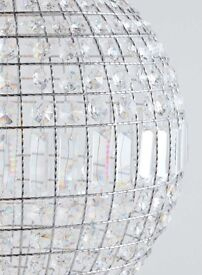 Large Crystal Ball Chandalier (NEW)