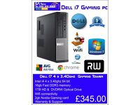Dell i7 Gaming PC 16GB MEM 2GB GRAPHICS