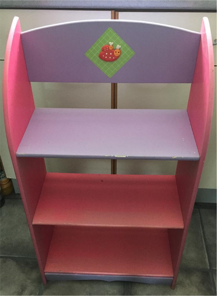 Kids Purple Pink Bookshelf