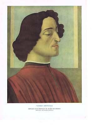 1929 Portrait De Julien De Medicis Botticelli