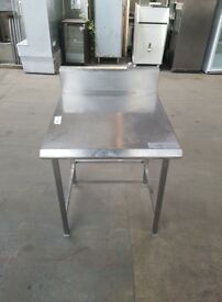 commercial stainless steel table work bench kitchen table with under counter dishwasher space
