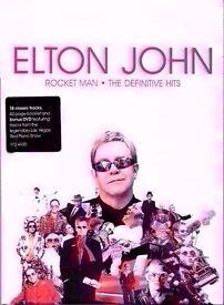 ELTON JOHN ROCKET MAN THE DEFINITIVE HITS DELUXE DVD+CD+ 42 PAGE BOOK LONG BOX LTD EDITION VGC