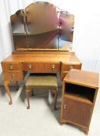 Walnut Bedroom Dressing Table Suite circa 1920