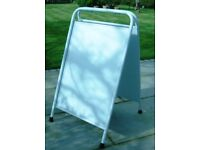 Two A-boards for pavement display and promotions