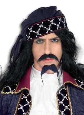Erwachsene Piraten Schnurrbart und Kostüm Bart