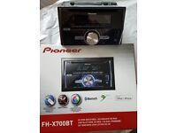 Pioneer CD RDS Receiver Double Din - with USB, MP3 & Bluetooth in original box