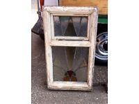 Art Deco Wooden windows and leaded glass