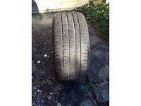 255/30/19 Pirelli PZero Run Flat Part Worn Tyre 4-5 mm