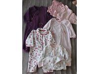 Baby Girl Clothes 6-12 Months 8 Pieces Clothing Bundle FLEECE Sleepsuit vest